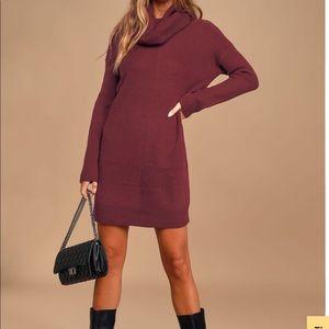 BRAND NEW - Burgundy Sweater Dress